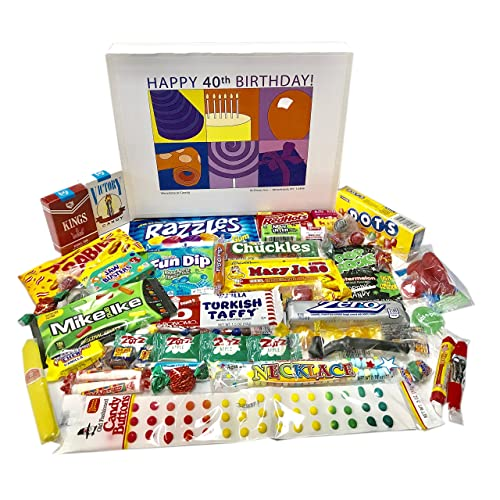 Woodstock Candy 40th Birthday Gift Box Of Nostalgic Retro For Men And Women