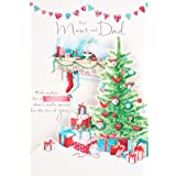 Hallmark Christmas Card To Mum & Dad 'Two Of You' - Medium