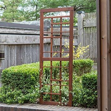 Palos Outdoor Enrejado de jardín de Madera con Acabado de Canela cálida, para jardinería al Aire Libre, césped, 69 Pulgadas: Amazon.es: Jardín