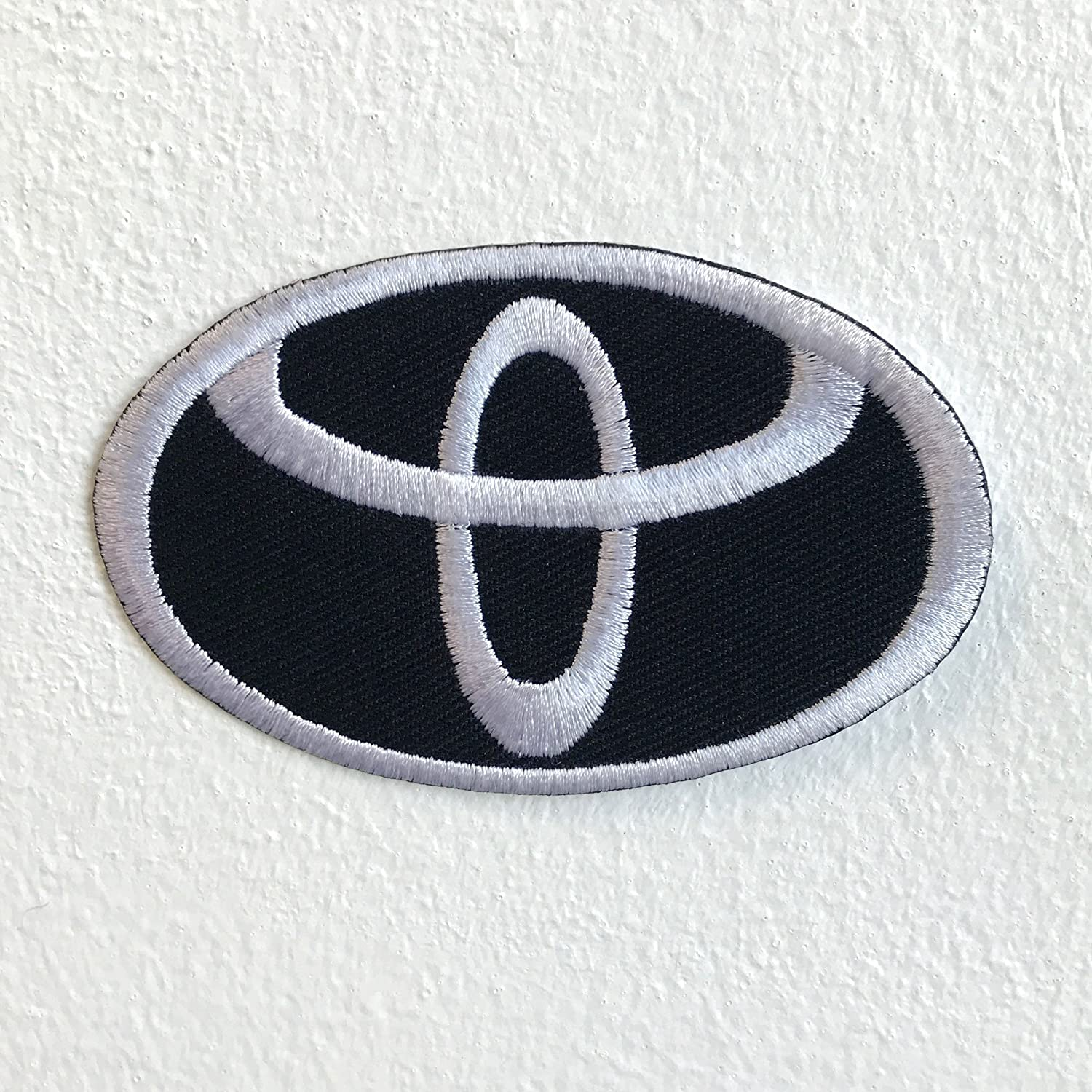 Toyota motorsports logo Black Iron Sew on Embroidered Patch GK - Patches