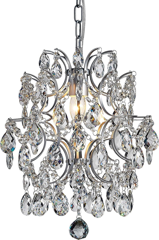 Bestier Modern Pendant Chandelier Crystal Raindrop Lighting Ceiling Light Fixture Lamp for Dining Room Bathroom Bedroom Livingroom entryway 1 E26 Bulbs Required D13 in x H16 in