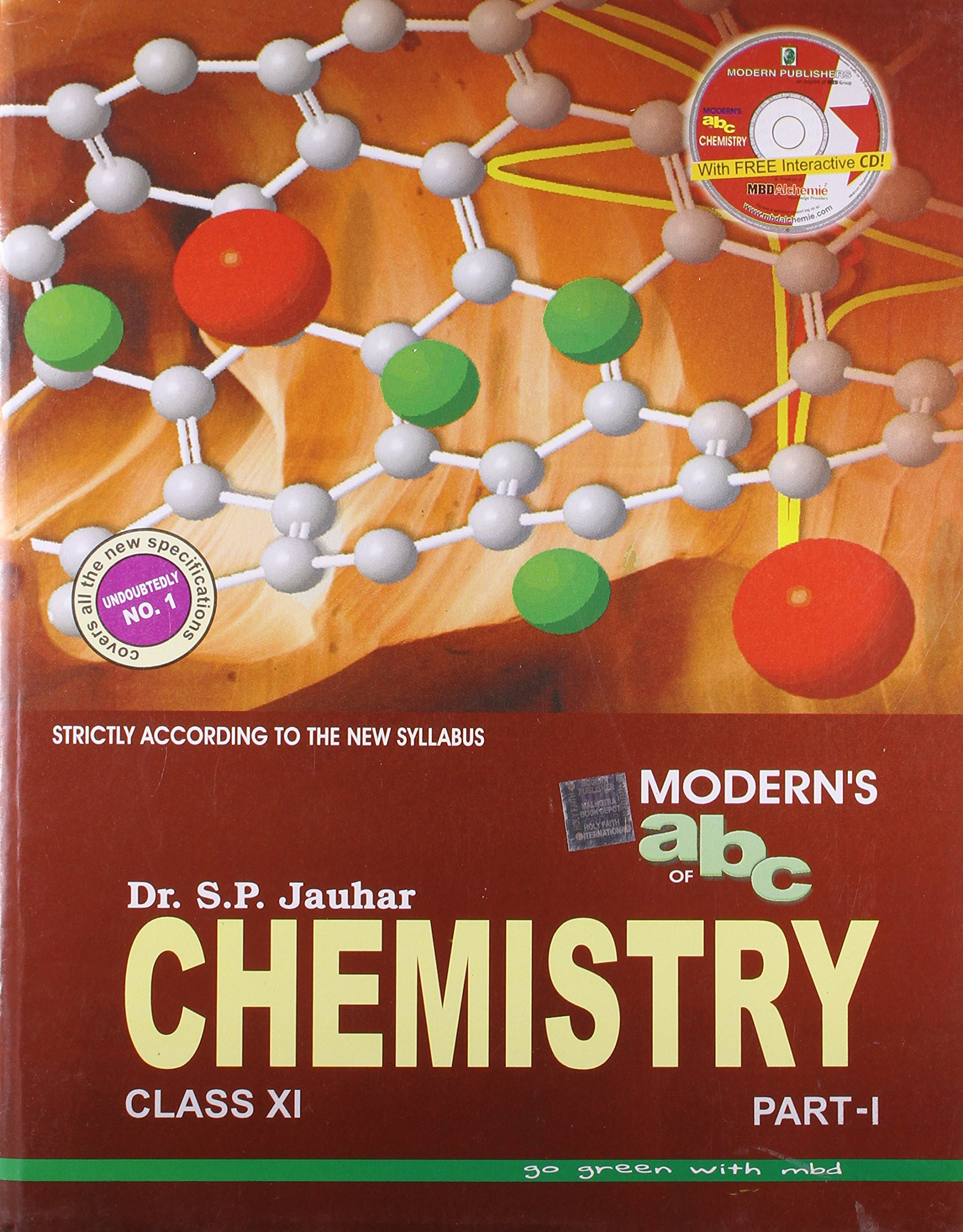 Moderns abc of chemistry for class xi set of 2 parts with cd old edition amazon in s p jauhar books