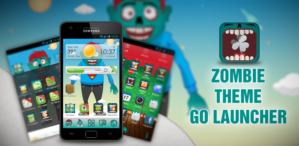 amazoncom zombie theme go launcher appstore for android