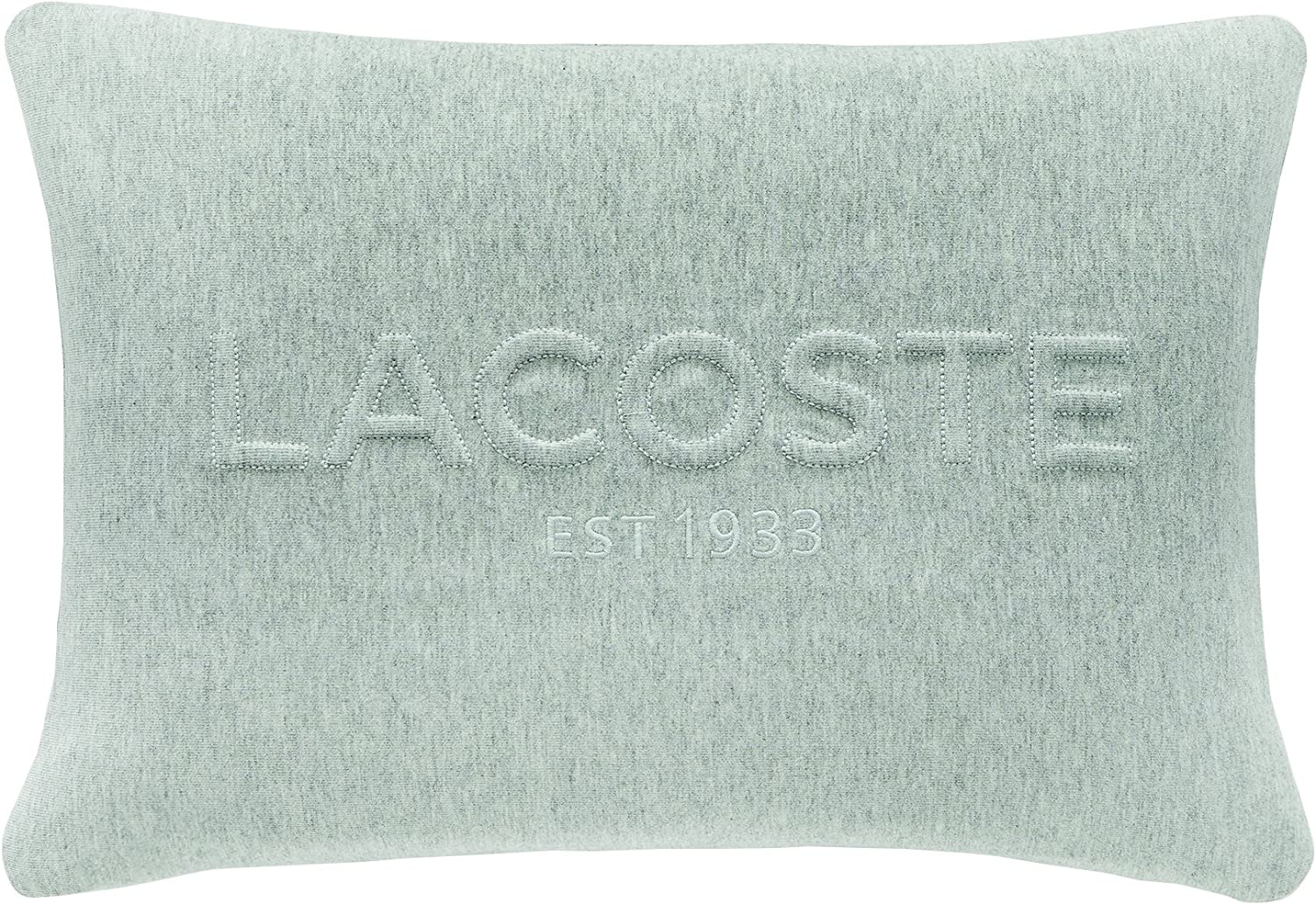 Lacoste Embossed Lacoste 12x18 Throw Pillow, Heather Grey