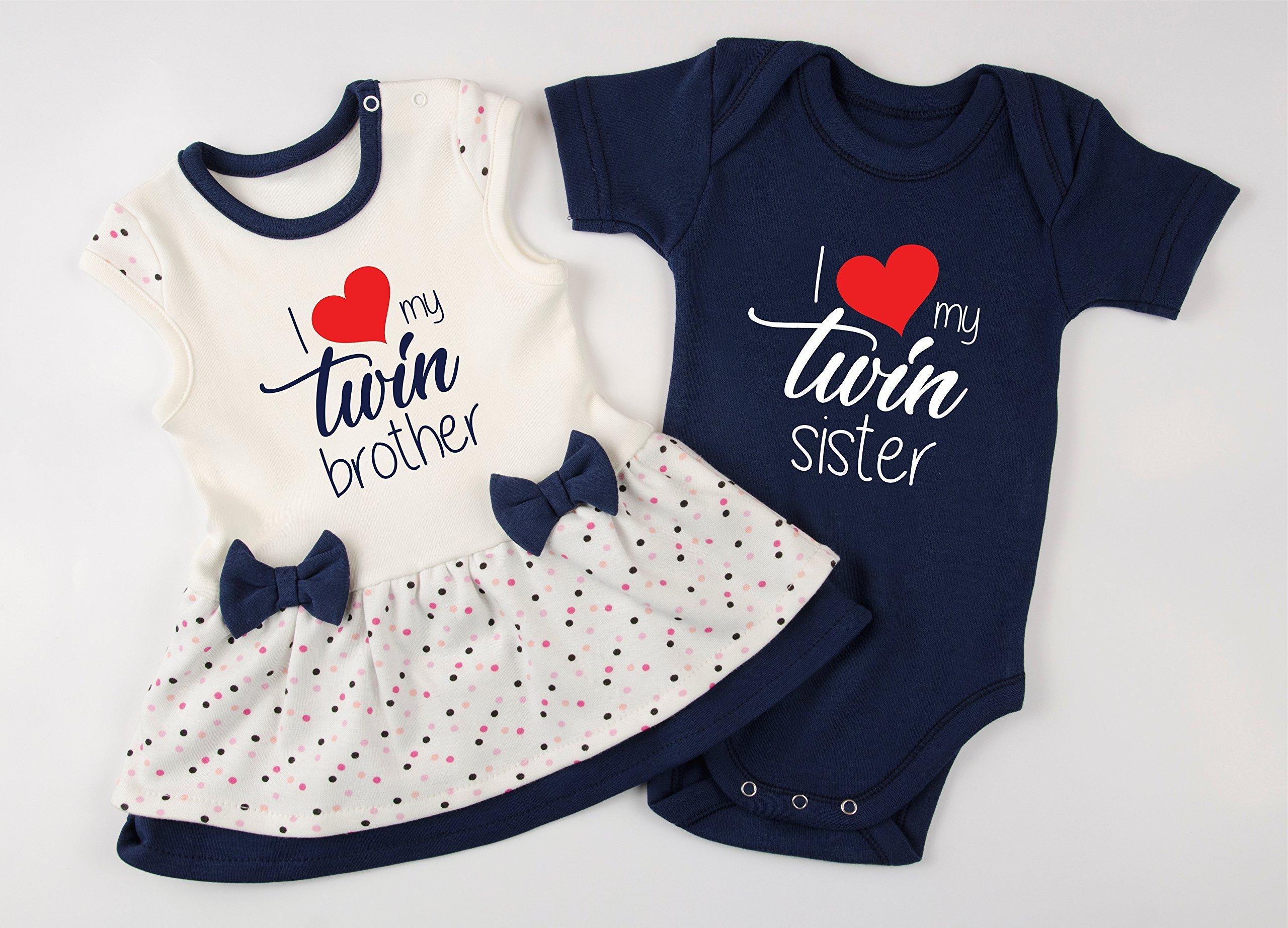 I Love My Twin Boy Girl Twin Set