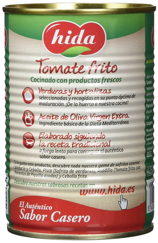 Hida Tomate Frito con Aceite de Oliva Virgen Extra - 400 g: Amazon.es: Amazon Pantry