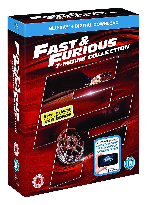 Fast And Furious 1-7 + Bonus Disc +Uv - Bonus Disc 8 Blu-Ray Edizione: Regno Unito Reino Unido Blu-ray: Amazon.es: Cine y Series TV