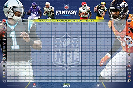 new style 30595 361d4 NFL Officially Licensed 2016 Fantasy Football Draft Kit, Multicolor,  45.5 quot  ...