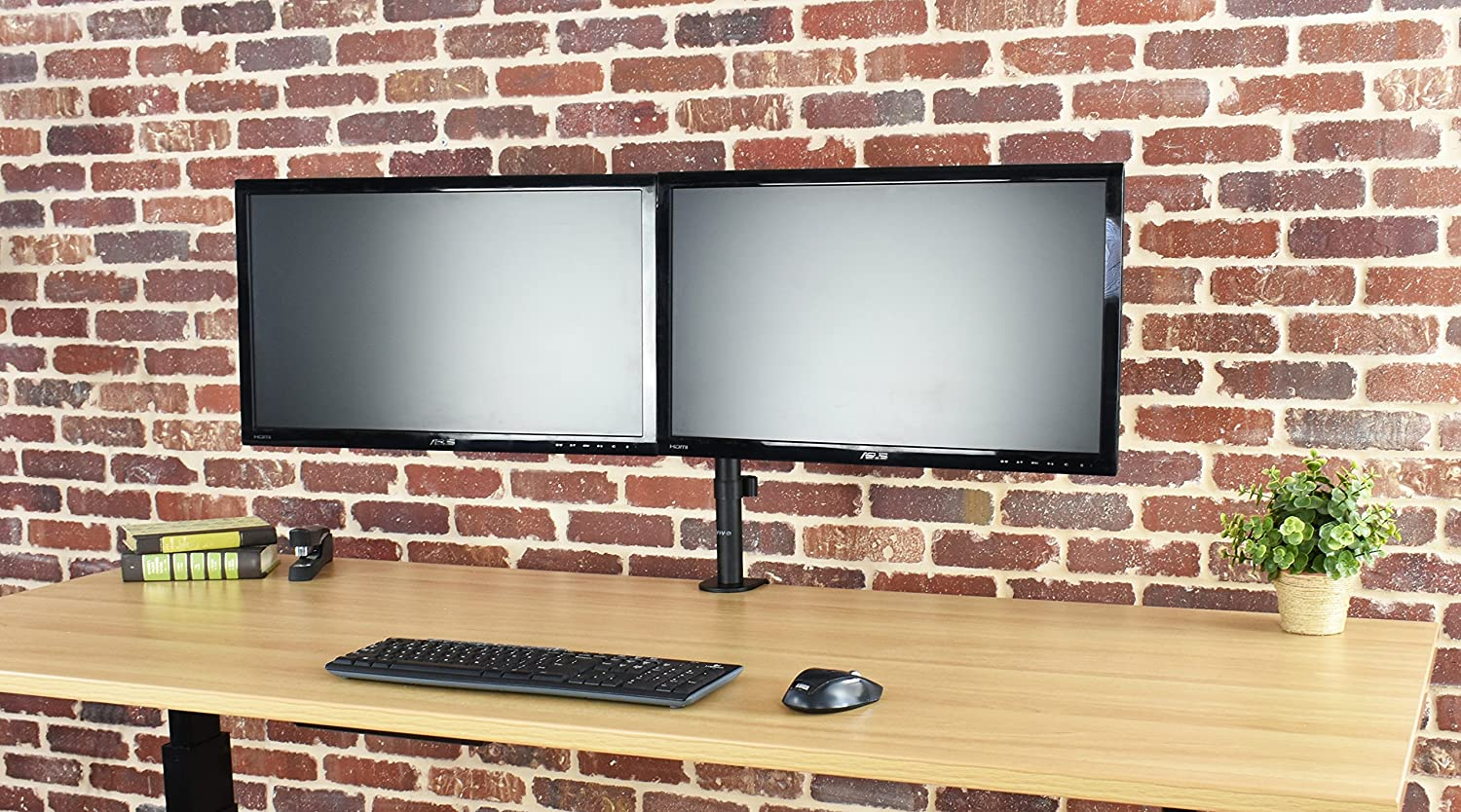 Amazon com vivo triple lcd monitor desk mount stand heavy duty fully - Amazon Com Vivo Dual Lcd Led Monitor Desk Mount Stand Heavy Duty Fully Adjustable Fits 2 Two Screens Up To 27 Computers Accessories