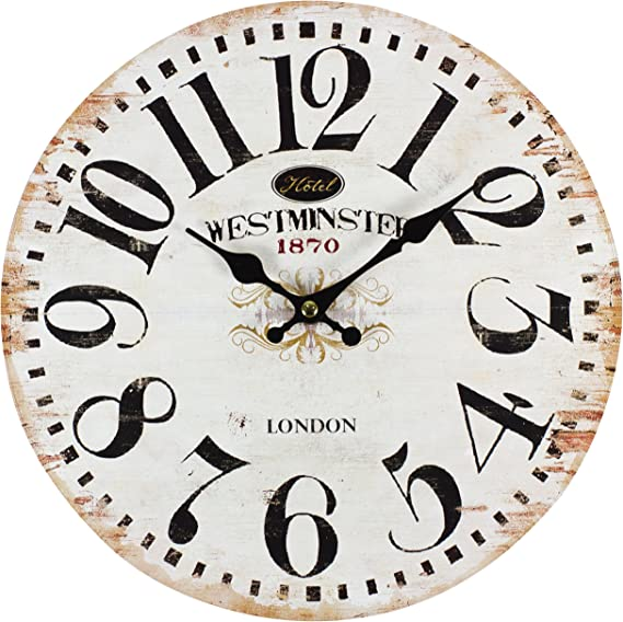 Perla Pd Design Wanduhr Kinderuhr Vintage Design Westminster Ca Ø 28 Cm Amazon De