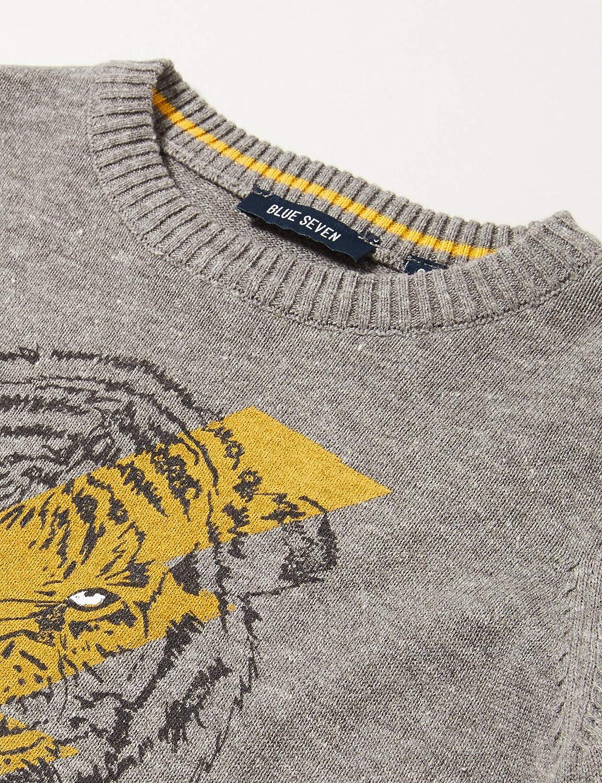 Blue Seven Jungen Pullover mit Tiger-Print Felpa Bambino