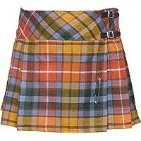 Cloud Enterprises Ladies Tartan Plated Billie Kilt Skirts with Free Pin!! 16 & 18 inch Length