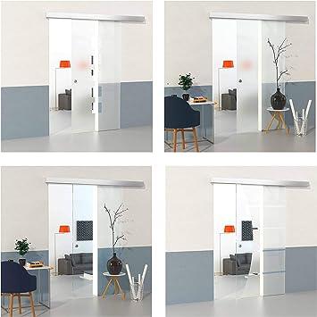 DURADOOR Juego de cristal de seguridad puerta corredera de cristal en cuadrado esign 2050 mmx1050 mm