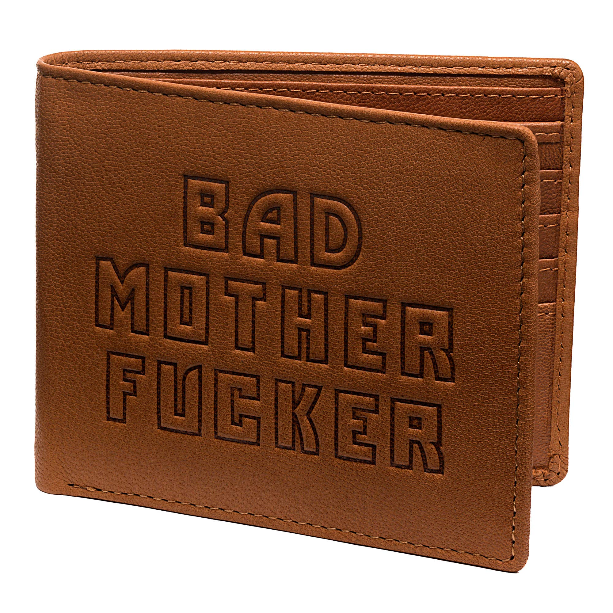 Bad Mother Fucker Wallet - Real Leather - TAN