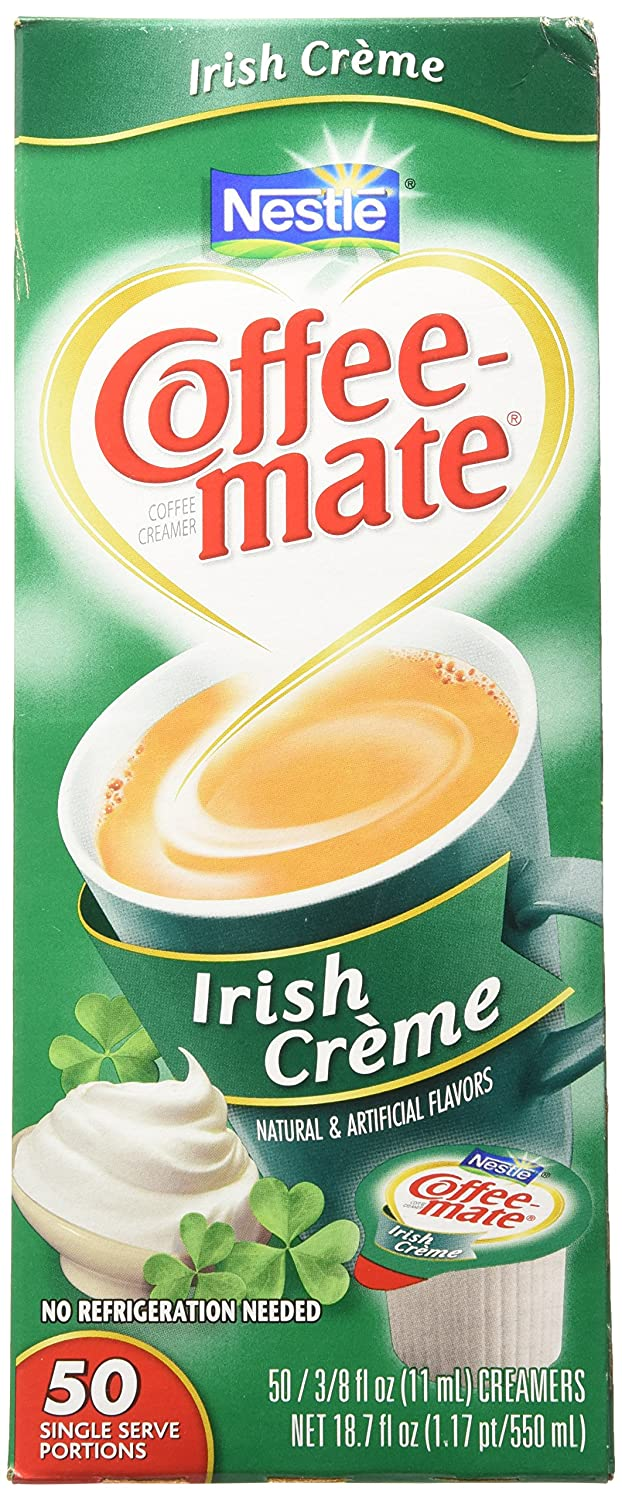 Coffee-Mate Irish Creme Liquid Creamer 50 Single Serve 3/8 FL OZ: Amazon.es: Hogar