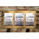 Flower Seeds for Planting 4gm (3 pack) - Wildflower Seeds in Bulk, Butterfly Seeds, Bee Garden Seeds