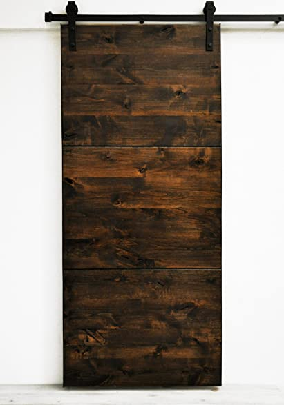 Beau Dogberry Collections Modern Slab Double Barn Doors, 36u0026quot;W X 82u0026quot;H  Each