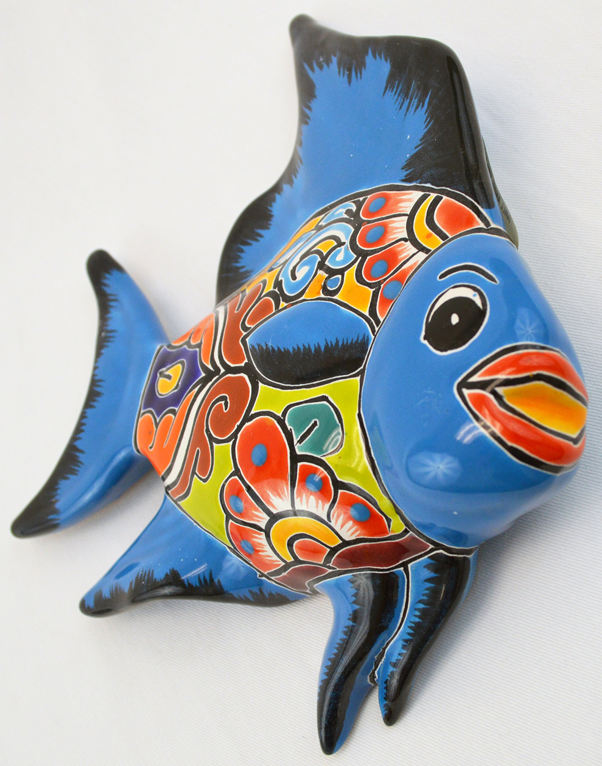 Avera Products Talavera Wall Angel Fish 8x11 Hand Painted Ceramic Garden Decor (Turquoise) by Avera Products (Image #2)