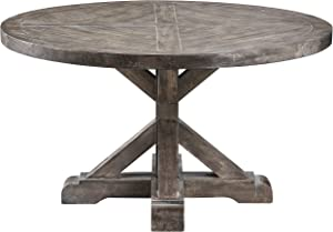 Stein World Furniture Bridgeport Round Cocktail Table, Weathered Grey