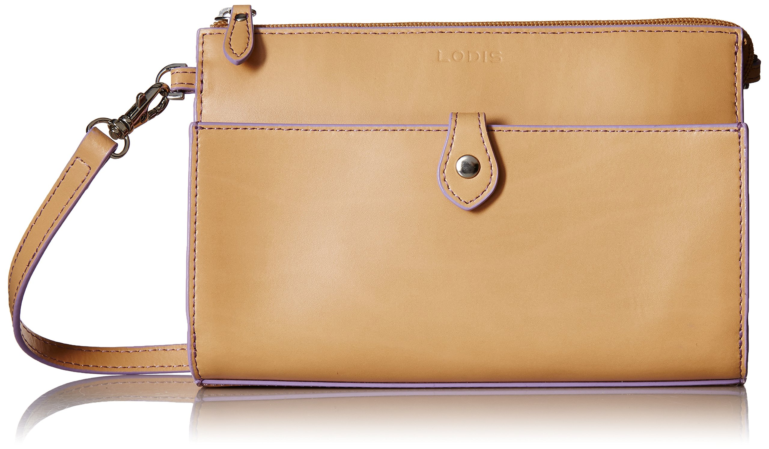 Lodis Audrey Rfid Vicky Convertible Crossbody Clutch, Natural/Lavendar