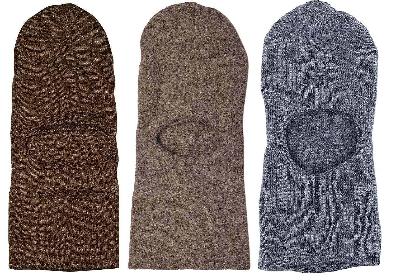 04992486dc8 Zacharias Men s Woolen Monkey Cap (Multicolour) -Pack of 3  Amazon.in   Clothing   Accessories