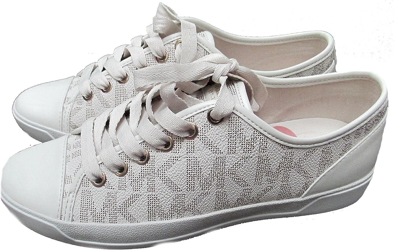 Realm each upper  Amazon.com   Michael Kors Womens MK City Sneakers Signature PVC (6 ...