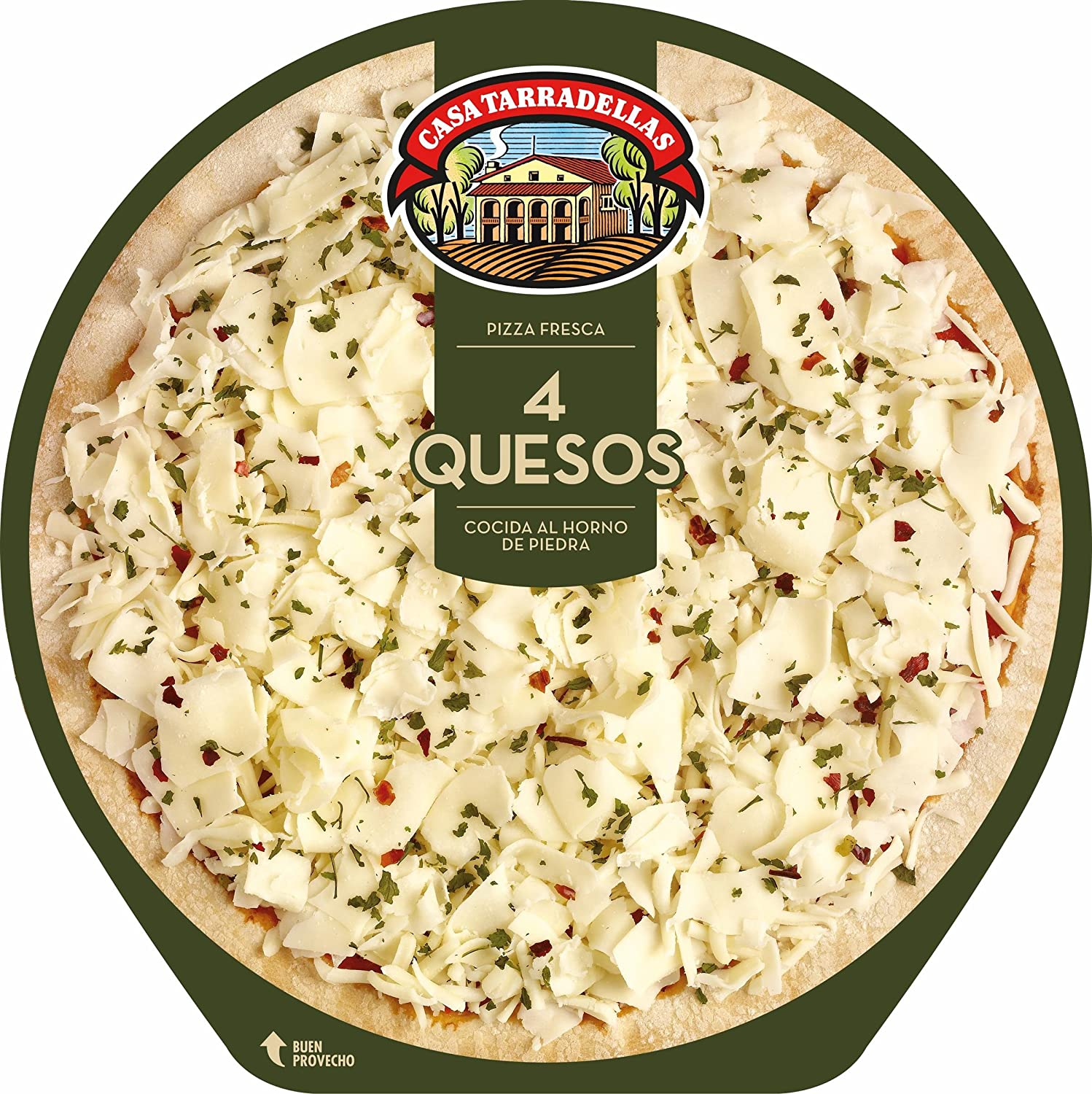 Casa Tarradellas Pizza Fresca 4 Quesos - 390 gr: Amazon.es ...