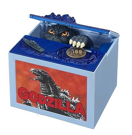 Shine New Godzilla Movie Musical Monster Moving Electronic Coin Money Piggy  Bank Box