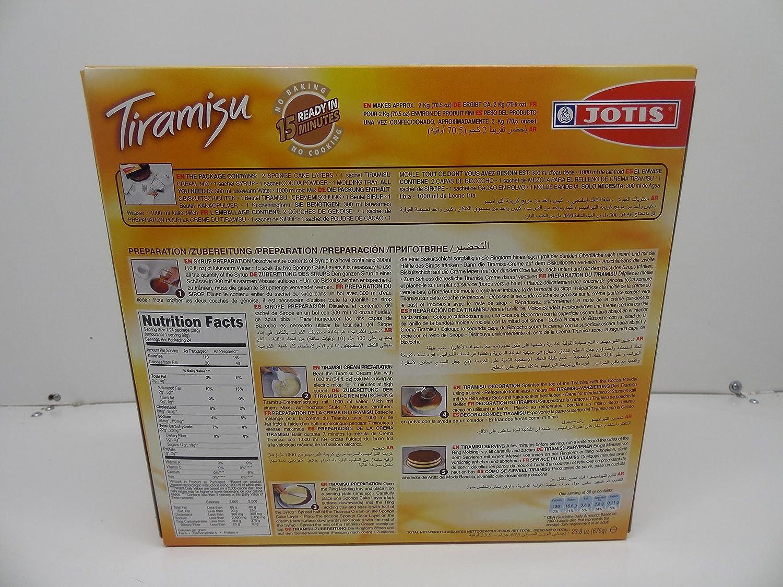 Amazon.com : Jotis Tiramisu Mix, Makes 24 Portions, 23.8oz : Grocery & Gourmet Food