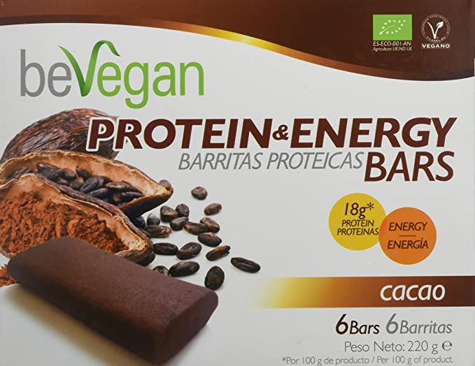 beVegan Protein Bars Cacao - 220 gr