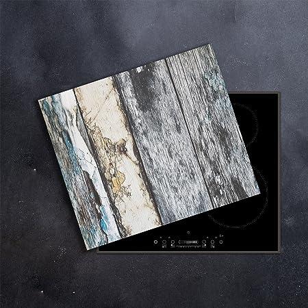 Ceranfeldabdeckung Herdabdeckplatten Spritzschutz Glas Abstrakt 60x52 cm