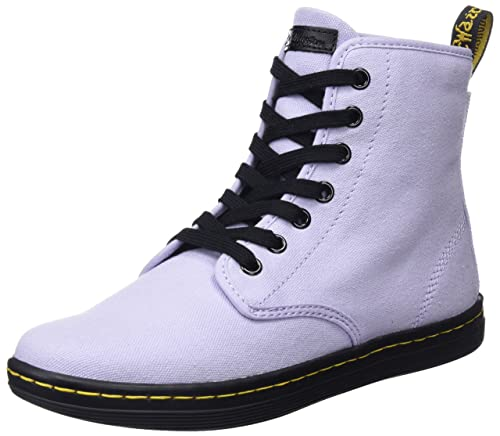 9177e822350cb Amazon.com: Dr. Martens Women's Shoreditch Hi-Top Trainers, Purple ...