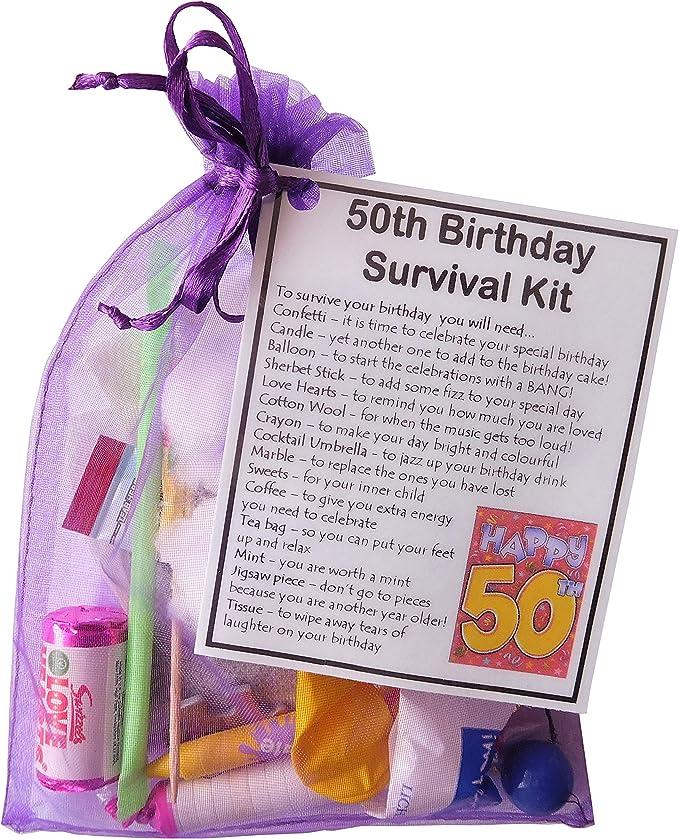Amazon Com Smile Gifts Uk 50th Birthday Survival Kit Gift Furniture Decor