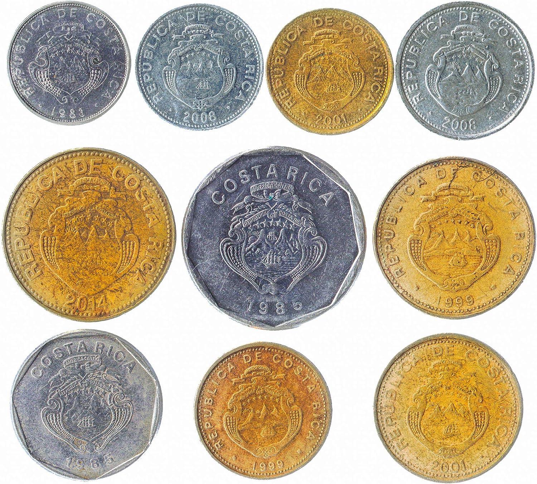 10 Monedas Antiguas de la República de Costa Rica en América Central. Monedas coleccionables de Costa Rica colón. Ideal para Banco DE Moneda, SOSTENEDORES DE Moneda Y Album DE Monedas: Amazon.es: Juguetes