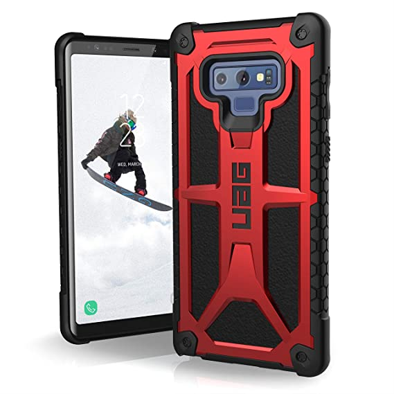 new concept c8bb1 50da3 URBAN ARMOR GEAR UAG Samsung Galaxy Note 9 Monarch Feather-Light Rugged  [Crimson] Military Drop Tested Phone Case
