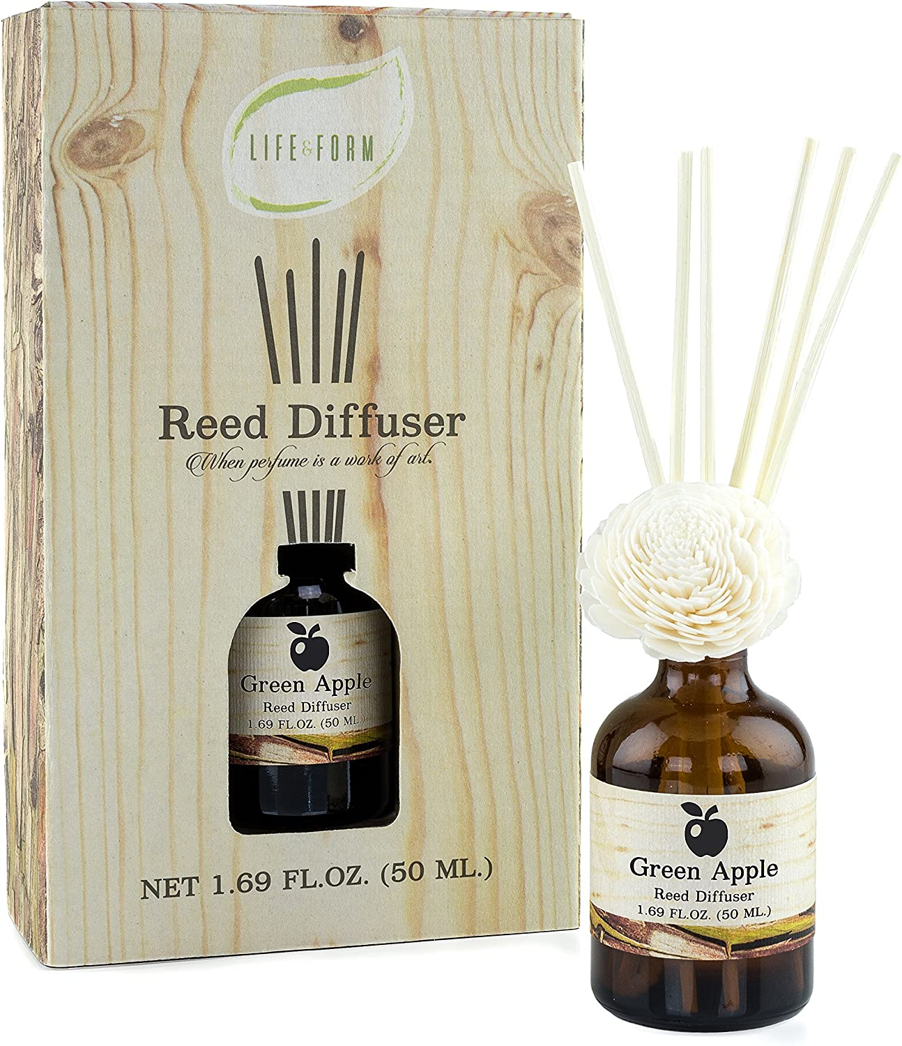 Life & Form Green Apple Reed Diffuser (1.69 fl.oz.) | Home Fragrance