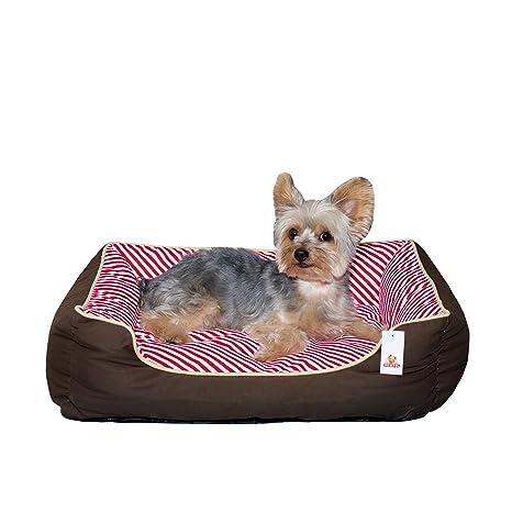 Stinky G cama del perro rayas oblicuas 100% algodón (grandes 80 x 70 cm