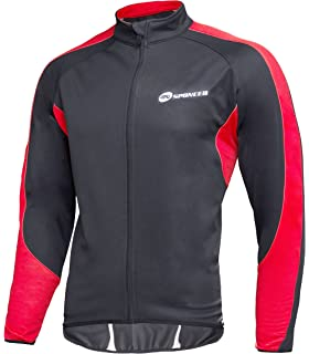 fe545a18a8e sponeed Men s Wind Jackets Cycling Fleece Coat Shirts Winter Windproof  Thermal Bicycle Bike Clothes
