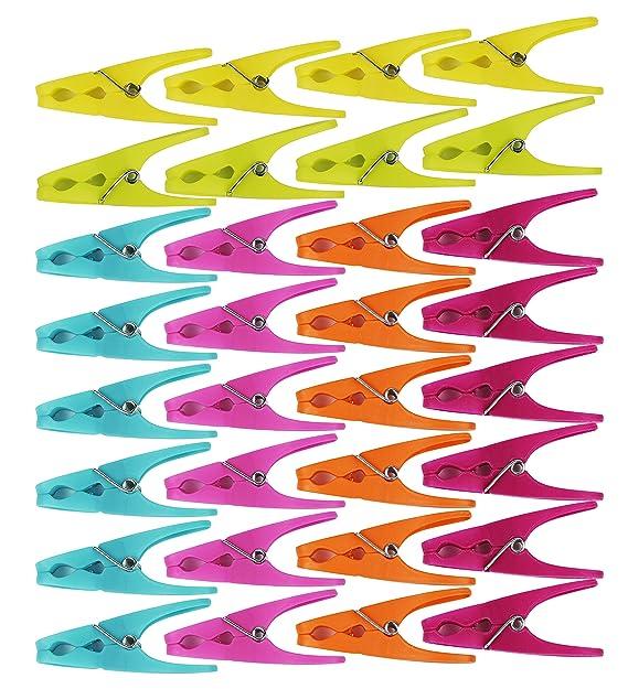 Amazon.com: 64 Clothespins W/6 Colores brillantes de ...