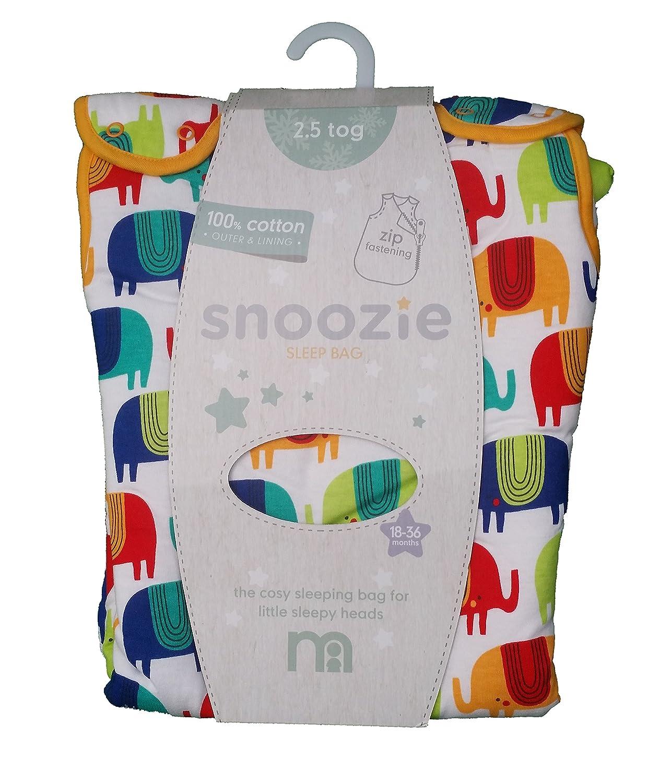 Mothercare - Snoozie - Saco de dormir para bebé (0-6 meses, 1 tog, diseño de elefante): Amazon.es: Bebé