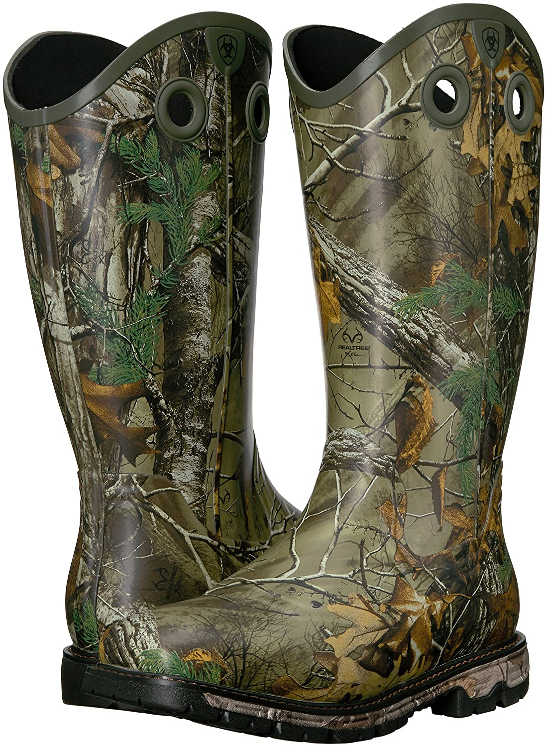 Amazoncom  Ariat Mens Conquest Rubber Buckaroo Insulated Hunting Boot   Industrial  Construction Boots