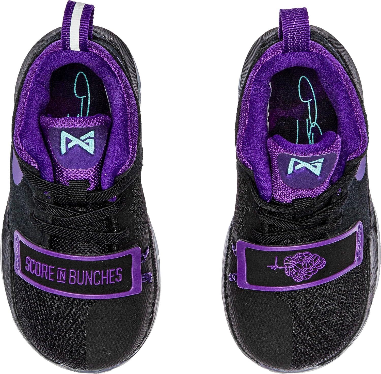 4f4dc50b90e Amazon.com Nike PG 1 Score In Bunches Toddler Boys Shoe Black Hyper Grape  Clear ...