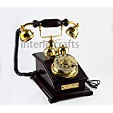 Tring Tring Old Days Wooden Antique Working Landline Telephone From Interio Crafts