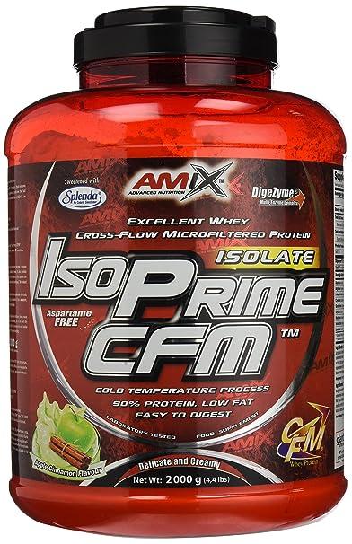 Amix Isoprime CFM, Proteínas con Sabor de Manzana Verde con Canela, 2000 g
