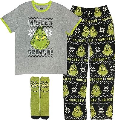 Men/'s GRINCH XL Fleece Lounge PAJAMA Pants Christmas Holiday Mens BUFFALO PLAID