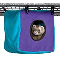 Ferret Nation Cozy Cube for Ferret Nation & Critter Nation Small Animal Cages | Measures 8.5L x 8.5W x 9H - Inches