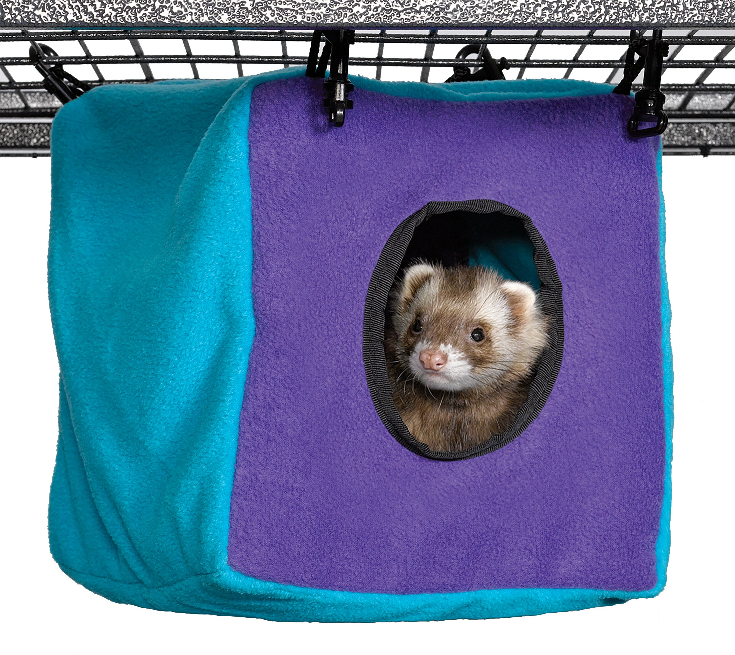 MidWest Homes for Pets Ferret Nation Cozy Cube for Ferret Nation & Critter Nation Small Animal Cages | Measures 8.5L x 8.5W x 9H - Inches