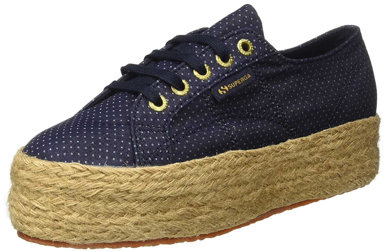 Superga 2790Fabricshirtropew Sneaker a Collo Basso Donna Blue Indigo