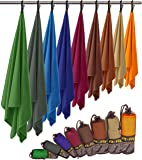 Fit-Flip Microfibre Towel – 8 Sizes in 9 trendy colors – ultra absorbent, small and lightweight – Large Beach Towels, Bath Towels, Hand Towels, Travel Towel and Yoga/Gym Towel