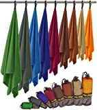 Premium Microfaser Handtuch in 8 Größen – federleicht, ultra saugstark und schnelltrocknend – Fit-Flip Microfaser Handtücher sind ideal als Reisehandtuch, Sporthandtuch, Strandtuch XXL und Badetuch